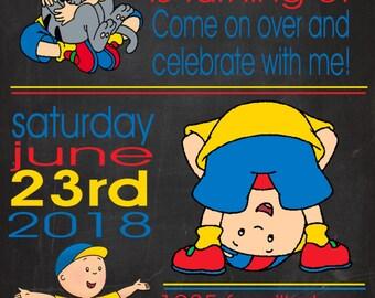 Caillou Digital Party Invite