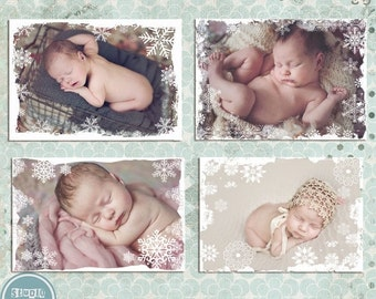 ON SALE Christmas Photo Overlays, Winter, Snow, Photo Overlays vol.3 - Photoshop Template - INSTANT Download