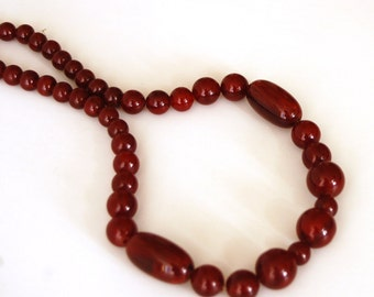 Amber bakelite necklace