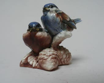 Tay Italian Porcelain, Giuseppe Tagliariol, Bepi Tay, code 516, Eastern Bluebird