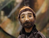Custom Made Small, hand-made marionette, 4 strings, Made-to-order
