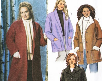 Butterick 4040 Women's Plus Size Coats and Jackets Sewing Pattern