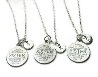 3 Sisters Initial Necklaces, 3 Sisters Necklaces, Sisters Necklaces, Necklaces For Sisters, Personalized