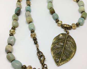 Amazonite Beaded Necklace.