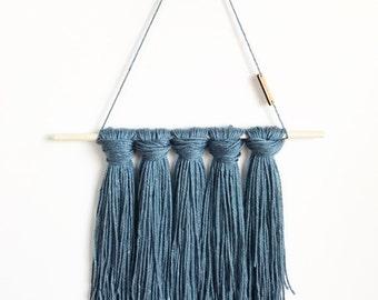 Persian Blue Tapestry / Yarn Wall Hanging
