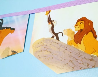 THE LION KING little golden book banner garland baby shower bunting jungle safari theme nursery decor storybook