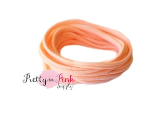 NEW Pale Peach THIN Nylon Headbands-Soft Stretch Head wrap-Wholesale Headbands-Soft Stretch Headband Nylon-Baby Headband-Baby