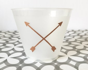 PC03 - copper arrows party cup, set of 15