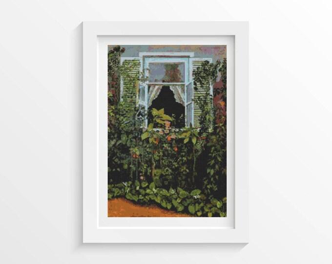 Cross Stitch Kit, Embroidery Kit, Art Cross Stitch, Window by Victor Borisov-Musatov (BORIS01)