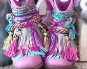 Reserved for Dez!!! Gypsy Boots/Fringe boots/boho boots/handmade boots/ hippie boots/cowgirl boots
