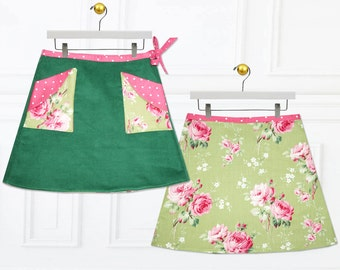 Girls skirt pattern, Skirt Patterns, Childrens sewing pattern, Wrap skirt pattern, girls sewing patterns, PDF sewing pattern, MADISON