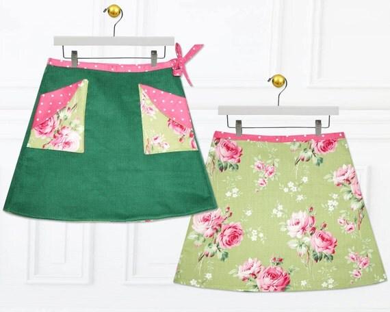 Girls skirt pattern, Skirt Patterns, Childrens sewing pattern, Wrap skirt pattern, girls sewing patterns, PDF sewing pattern, MADISON