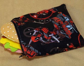 One Sandwich Bag, Reusable Lunch Bags, Waste-Free Lunch, Machine Washable, Deadpool, Under The Sea, item #SS155