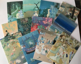 French Art Greeting Cards Set of 12