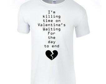 Valentine's day t-shirt, placebo shirt, anti valentine tee, minimal tee shirt, broken heart t shirt, ironic shirt