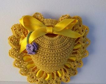 Scented Drawer Sachets - Handmade Crochet - Lavender