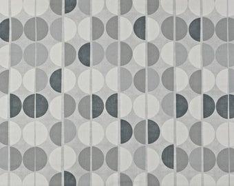 "PRE-ORDER NOW 0.5 yard Oilcloth - Laminated Cotton tablecloth 52"" - pebble grey"