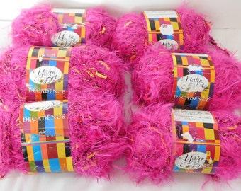 6 Skeins Yarn Bee Decadence Yarn Pink Ice new