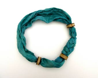 Neck Silk . Emanate Blue