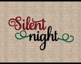 Silent night Machine Embroidery Design Christmas Embroidery Design Bible Scripture Embroidery Design Bible Verse Design