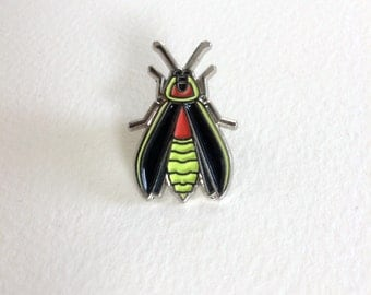 Glow in the Dark Firefly Enamel Pin. Lightning Bug. Light Bug. Inspired by the Great Smoky Mountains Synchronous Fireflies