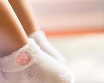 Monogrammed Baby Socks