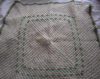 Hnadmade Crocheted Baby Blanket
