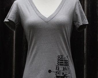 Doctor Who Dalek V neck Women's Screenprinted Shirt