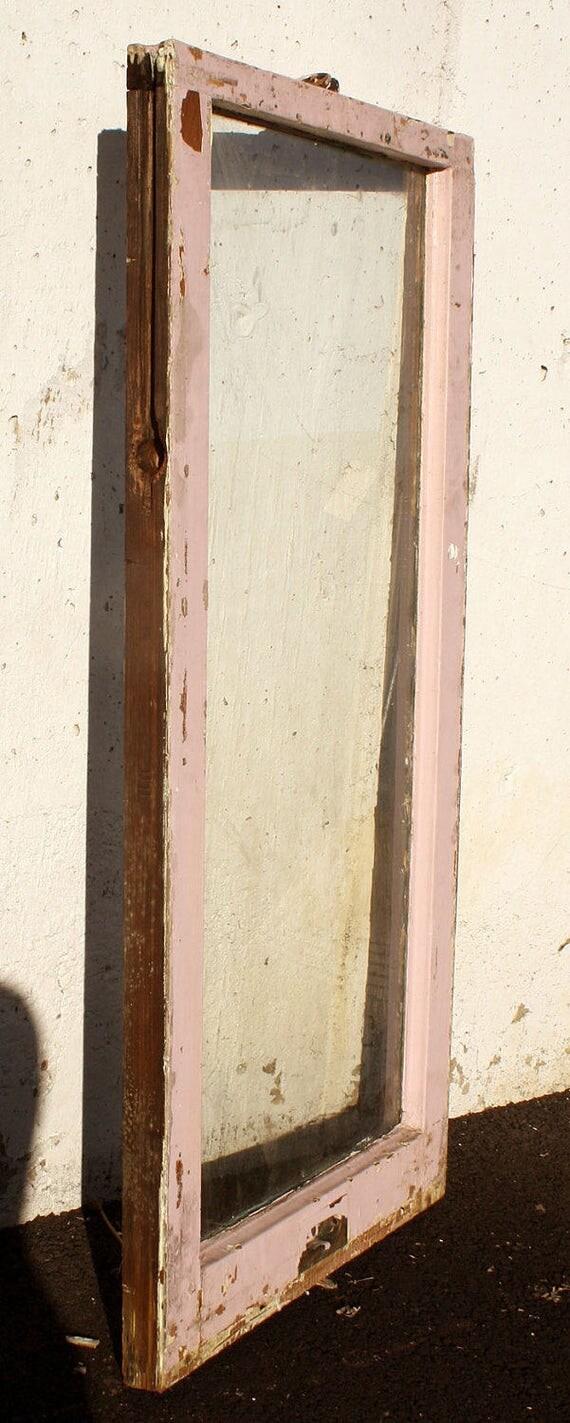 Double Hung Wood Sash Windows : Pair quot x antique vintage double hung wood wooden sash