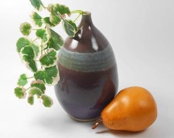 Flower vase - ceramic flower vase - purple vase - pottery flower vase - weed vase - V168