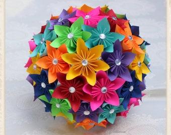 Paper Flower Bouquet, origami bouquet,  kusudama bouquet.