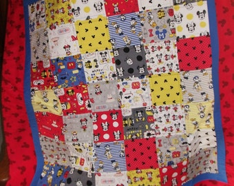 Quilt - Small - Baby Girl/Boy - Mickey Mouse