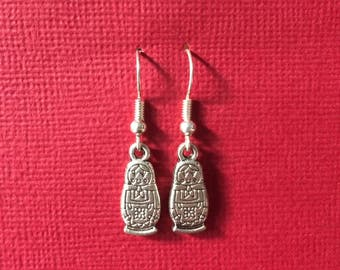 baboushka doll earrings