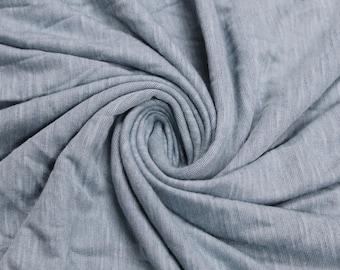 Blue Steel  Slub Printed Sandwash Rayon Fabric by the Yard - Style 705