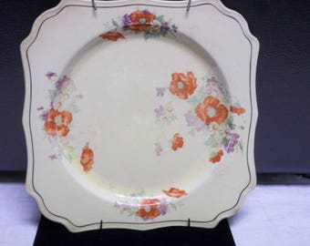 Vintage Yellow and Orange Decorative Plate from the 1950's, 0417T