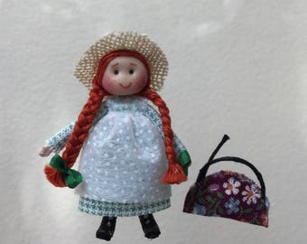 Dollhouse Miniature Rebecca of Sunnybrook Farm Doll (VF)