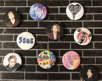 5SOS - 5 Seconds of Summer | Button/Pinback/Badge