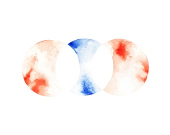 Watercolor Venn Diagram Print