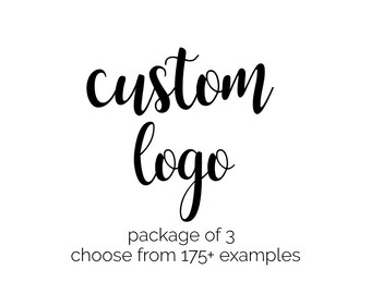 Logo Design Package - Custom Logo Design - Business Logo - Calligraphy Logo - Graphic Design Logo Package - Logo Branding - Modern Logo