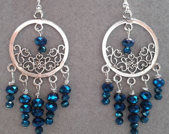 Royal blue chandelier earring – Etsy:Royal Blue Chandelier Earrings,Lighting