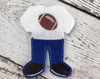 Football Felt Paper Doll Outfit, Cloth Doll, Flat Doll, Unpaper Doll, Non Paper Doll, Children's Toy, Travel Toy