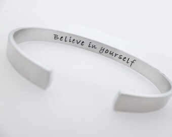 Custom , Hidden Message, Personalized Jewelry, Choose your text, Silver Jewelry, Adjustable , Bracelet for her, Unisex Inspirational
