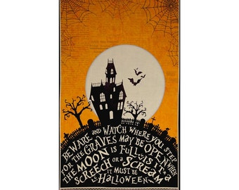 Come Sit a Spell Panel by Stephanie Marrott for Wilmington Prints