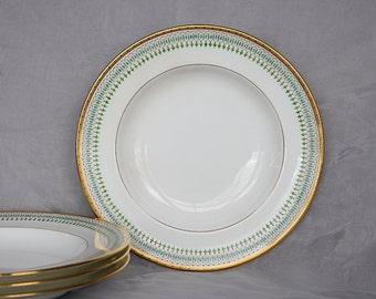 Vintage Minton Soup Bowls - Antique Minton China - Davis Collamore Minton - Vintage Soup Bowls - Gold Rimmed Soup Bowls -Vintage Dinnerware