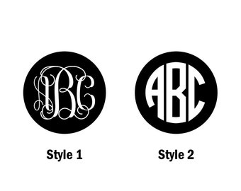 Personalized Monogram Decal, Monogram Decal, Vinyl Decal, Decal for Yeti, Car Decal, Laptop Decal