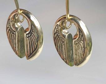 Brass ear weights, double wings