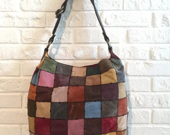 Vintage Patchwork Leather Shoulderbag