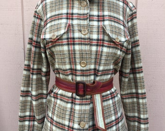 Vintage Pendleton of Portland Oregon flannel shirt-jacket. Size M