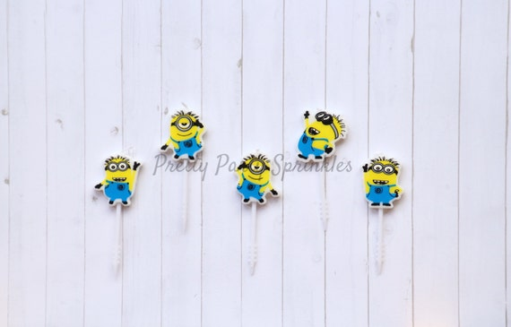 minion candles minions cupcake toppers minion baby shower