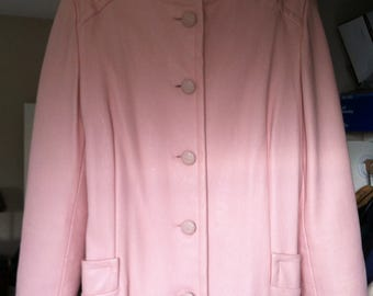 1970's Women's Pink Pleather Suit - Custom Made
